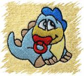 Dětský ručník s výšivkou - DINO
