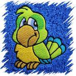 Dětský ručník s výšivkou - PAPOUŠEK