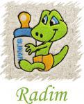 Dětský ručník s výšivkou - MIMČO a jméno
