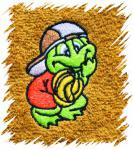 Dětský ručník s výšivkou - ŽABÁK