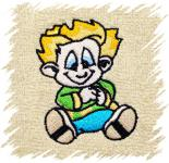 Dětský ručník s výšivkou - KLUK NEPOSEDA